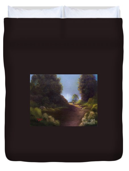The Walk Home Duvet Cover by Marlene Book