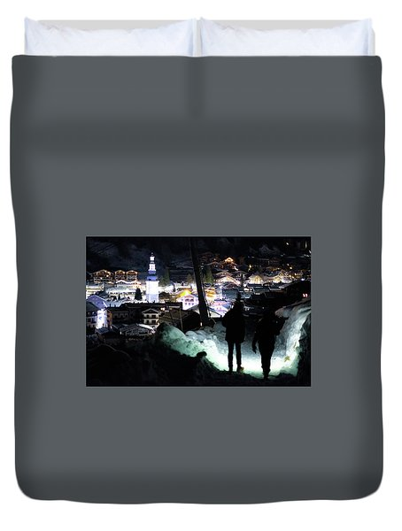 The Walk Into Town- Duvet Cover