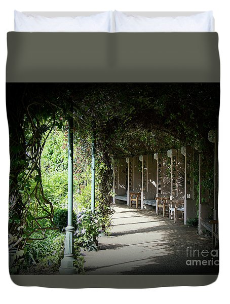 Duvet Cover featuring the photograph The Walkway by Lisa L Silva