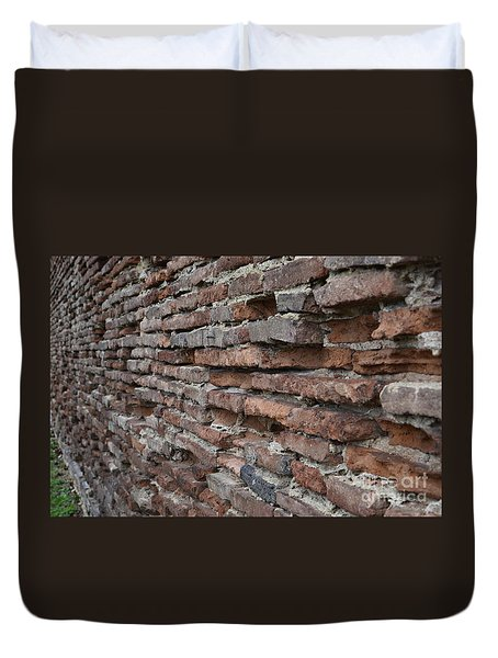 Duvet Cover featuring the photograph The Wall by Cendrine Marrouat