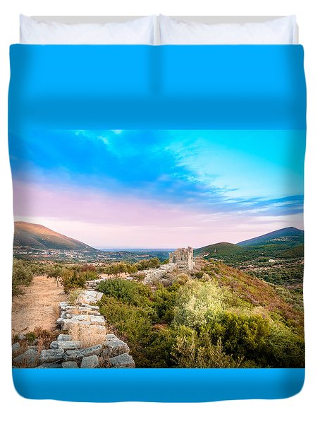 The Walls Of Ancient Messene - Greece. Duvet Cover