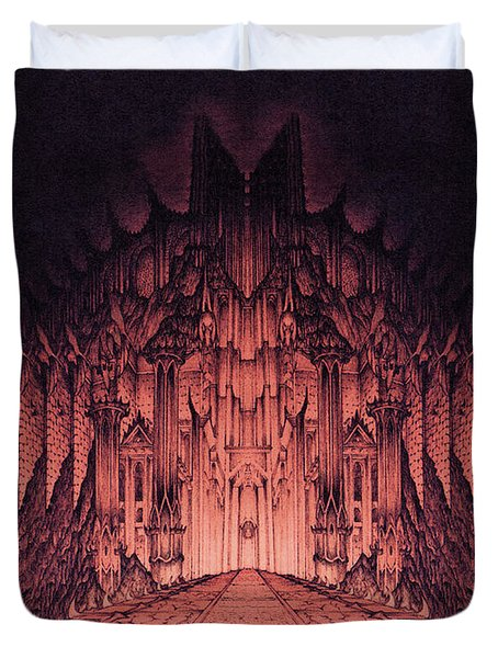 The Walls Of Barad Dur Duvet Cover