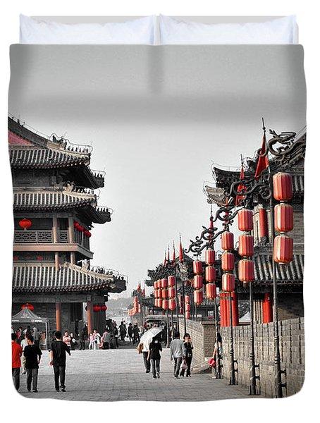 The Walls Of Xian Duvet Cover