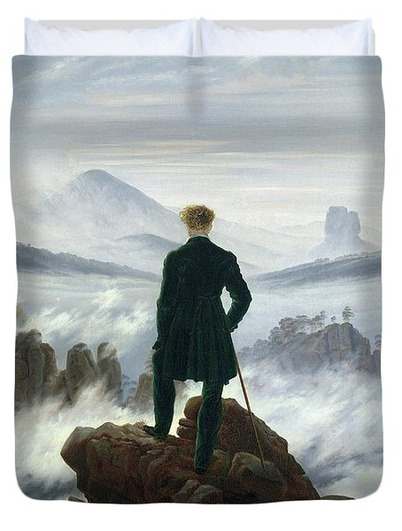 The Wanderer Above The Sea Of Fog Duvet Cover by Caspar David Friedrich