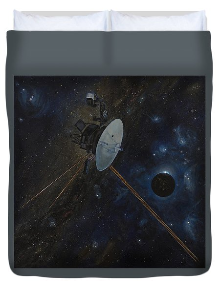 The Wanderer Duvet Cover by Simon Kregar