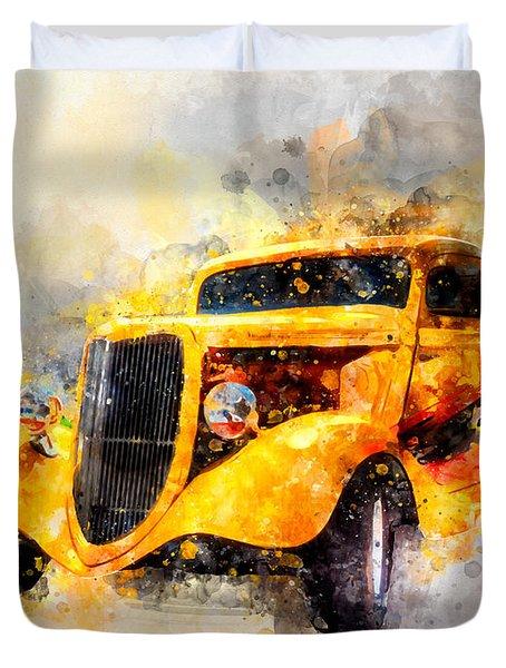 The Wanderer Watercolor Duvet Cover
