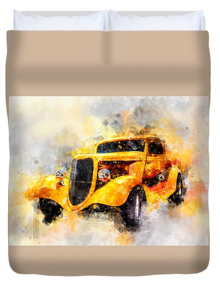 The Wanderer Watercolor Duvet Cover