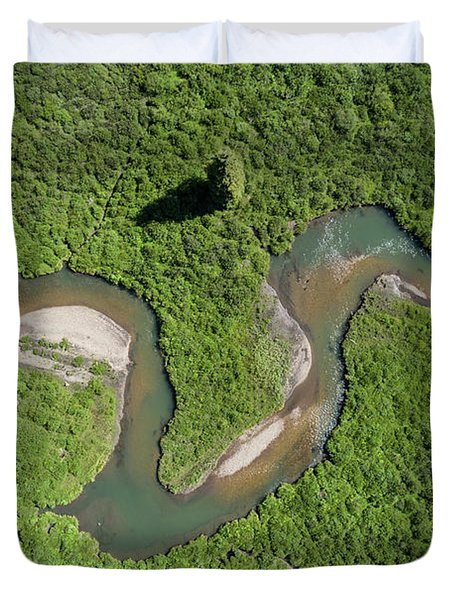 The Wandering River Duvet Cover