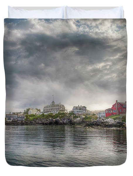Monhegan Harbor View Duvet Cover