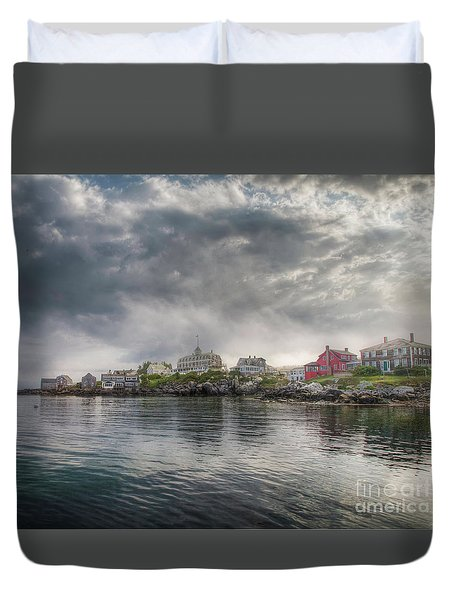 Duvet Cover featuring the photograph The Warf by Tom Cameron