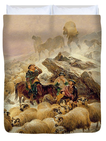 The Warmth Of A Wee Dram Duvet Cover by TS Cooper