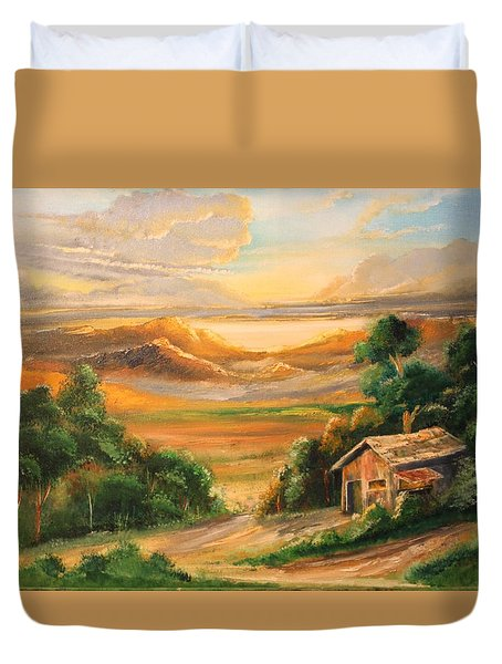 The Warmth Of Sunset Duvet Cover