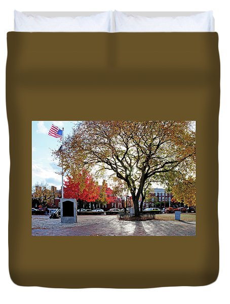 Duvet Cover featuring the photograph The Washington Elm by Wayne Marshall Chase