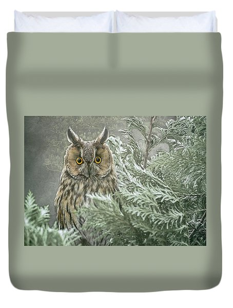 The Watcher In The Mist Duvet Cover