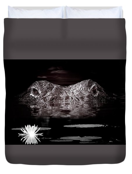The Watcher In The Water Duvet Cover by Mark Andrew Thomas