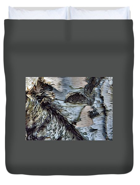 The Watcher In The Wood Duvet Cover