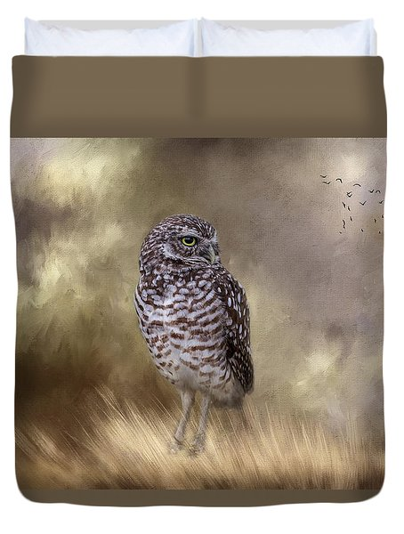 Duvet Cover featuring the photograph The Watchful Eye by Kim Hojnacki