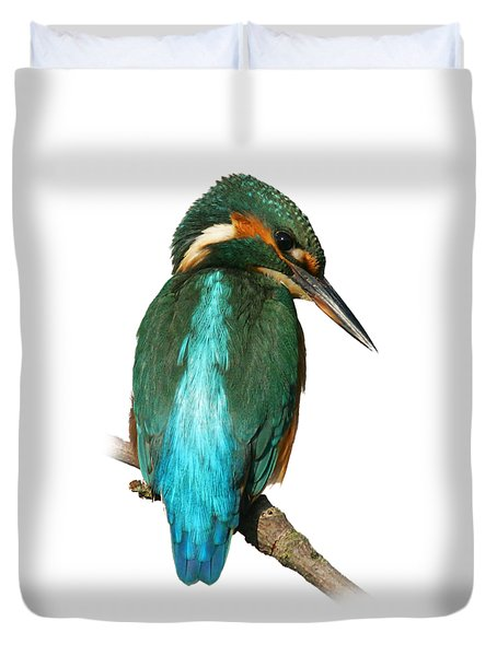 The Watchful Kingfisher T-shirt Duvet Cover