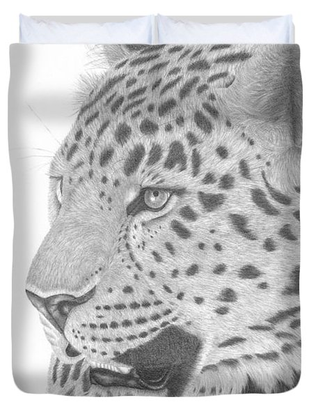 The Watchful Leopard Duvet Cover