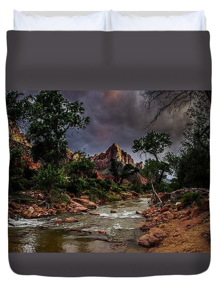 The Watchman Along The Virgin River Duvet Cover