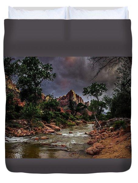 The Watchman Along The Virgin River Duvet Cover