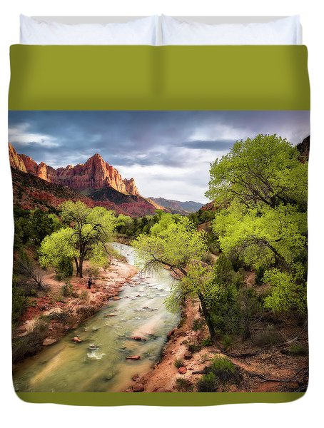 Duvet Cover featuring the photograph The Watchman by Eduard Moldoveanu