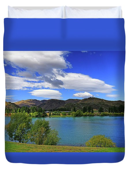 Duvet Cover featuring the photograph The Water Beckons by Nareeta Martin