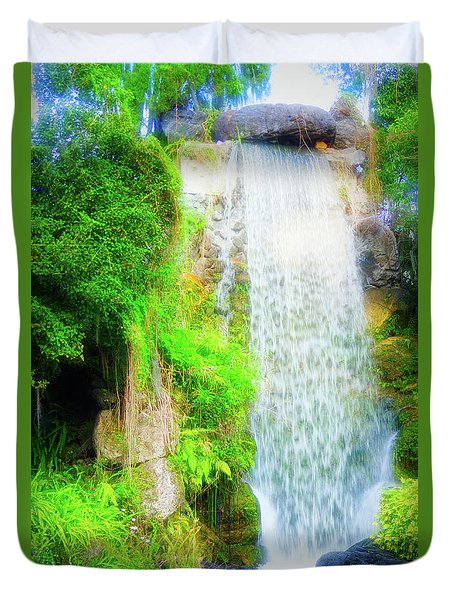 The Water Falls Duvet Cover