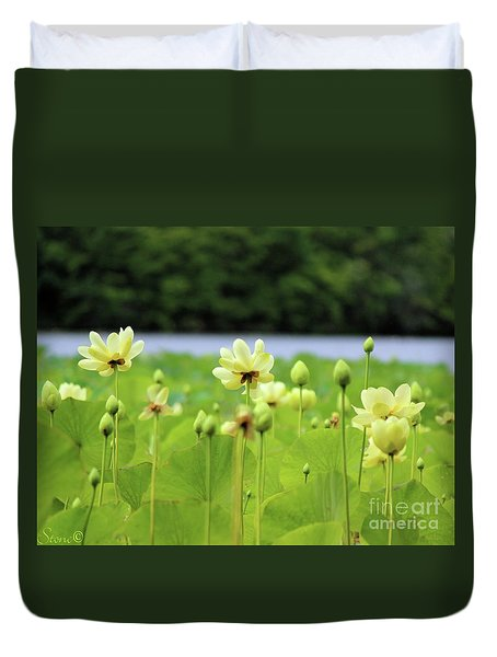 The Water Fields  Duvet Cover