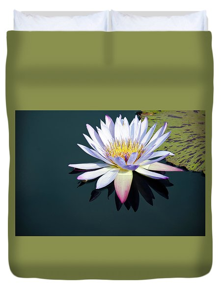Duvet Cover featuring the photograph The Water Lily by David Sutton