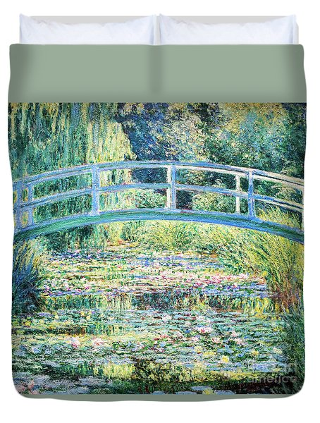 The Water Lily Pond By Monet Duvet Cover