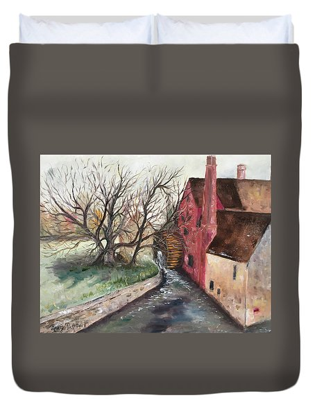 The Water Wheel Duvet Cover by Roxy Rich