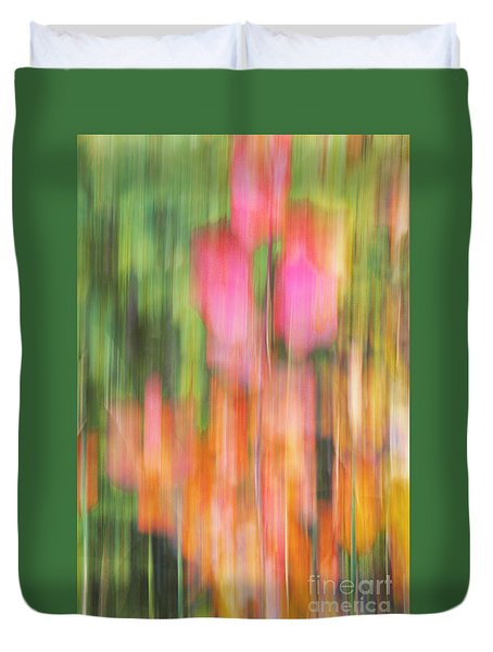 The Watercolor Garden Duvet Cover by Aimelle
