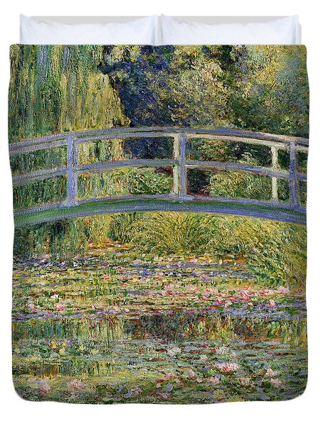 The Waterlily Pond With The Japanese Bridge Duvet Cover