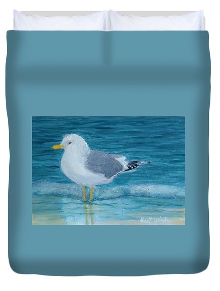 The Water's Cold Duvet Cover