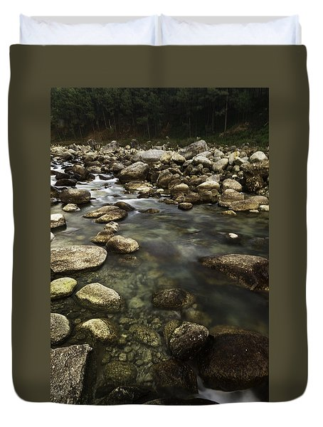 The Waters Flow Duvet Cover