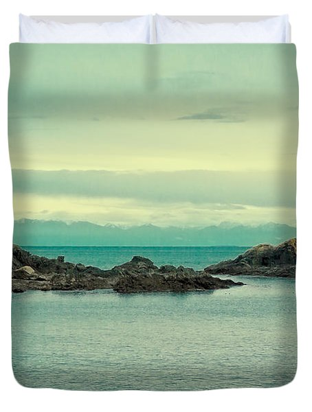 The Waters Of Deception Pass Duvet Cover
