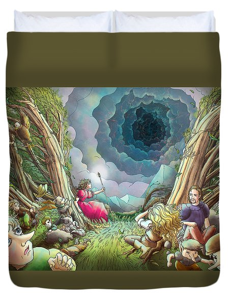 The Wave Of Space And Time Duvet Cover