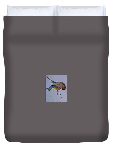 The Waxwing  Duvet Cover