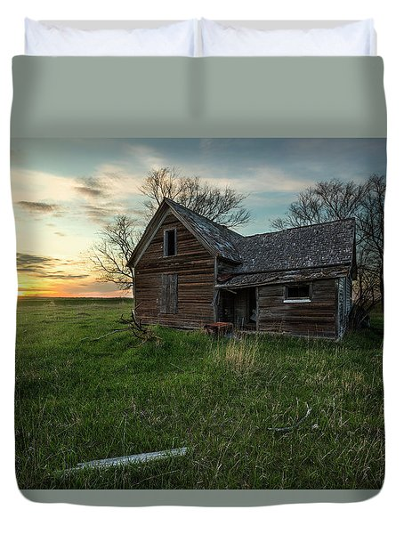 Duvet Cover featuring the photograph The Way She Goes by Aaron J Groen