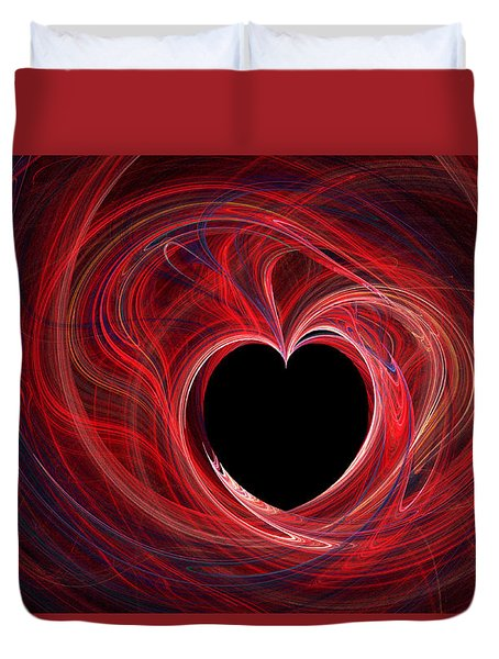 The Way To My Heart Duvet Cover by Kaye Menner