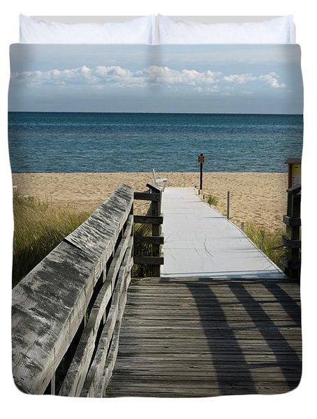 Duvet Cover featuring the photograph The Way To The Beach by Tara Lynn