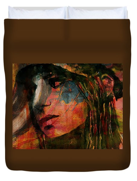 Duvet Cover featuring the painting The Way We Were  by Paul Lovering