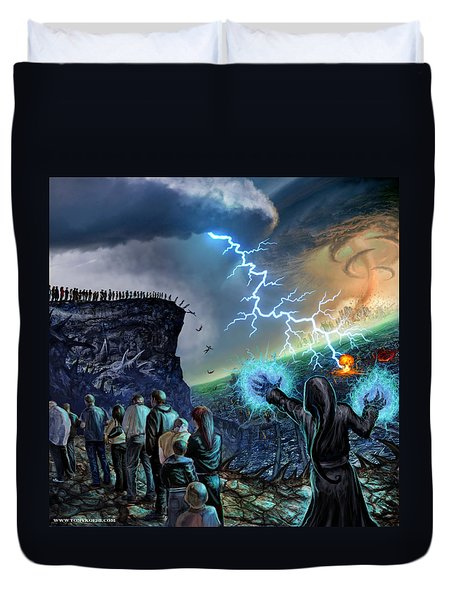 The Weak Shall Bring Us Down Duvet Cover by Tony Koehl