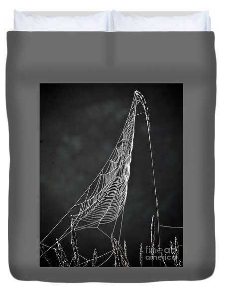 Duvet Cover featuring the photograph The Web by Tom Cameron