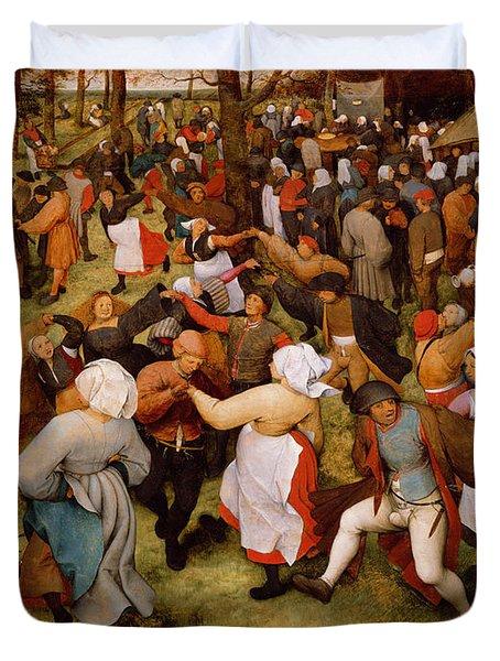 The Wedding Dance Duvet Cover by Pieter the Elder Bruegel