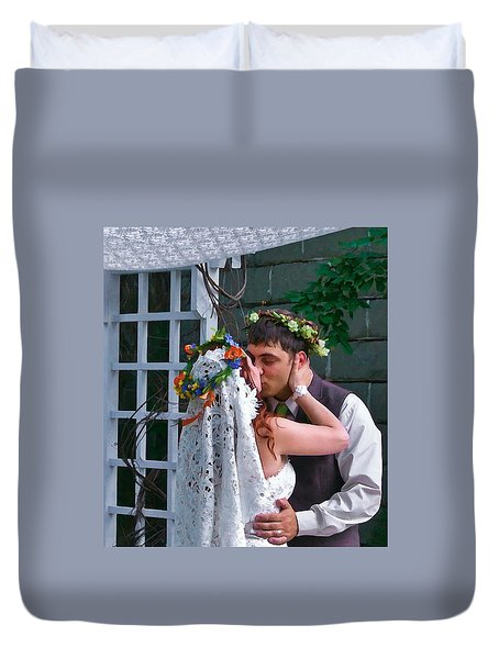 The Wedding Kiss Duvet Cover