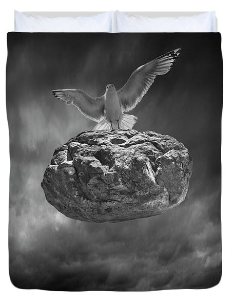 Duvet Cover featuring the photograph The Weight Is Lifted by Randall Nyhof