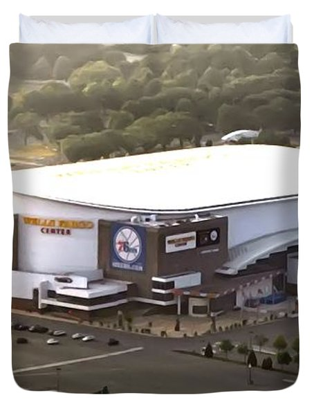 The Wells Fargo Center Duvet Cover by Bill Cannon