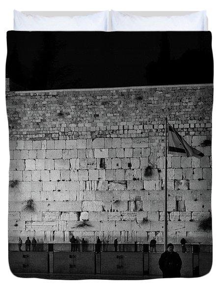 The Western Wall, Jerusalem Duvet Cover